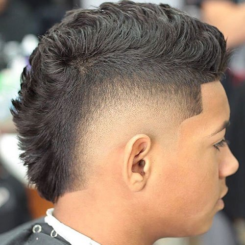 Short Faux Hawk Low Skin Burst Fade Fohawk Haircut