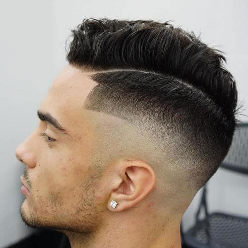 High Razor Fade + Textured Spiky Top + Line Up