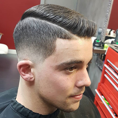 Ivy League Comb Over + Low Razor Fade