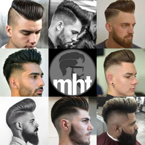 Men's Pompadour Haircut