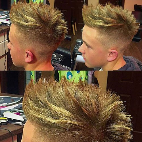 Spiked hairstyle for men styled with gel - Spiky Hairstyles For Men Men S Hairstyles Haircuts 2017