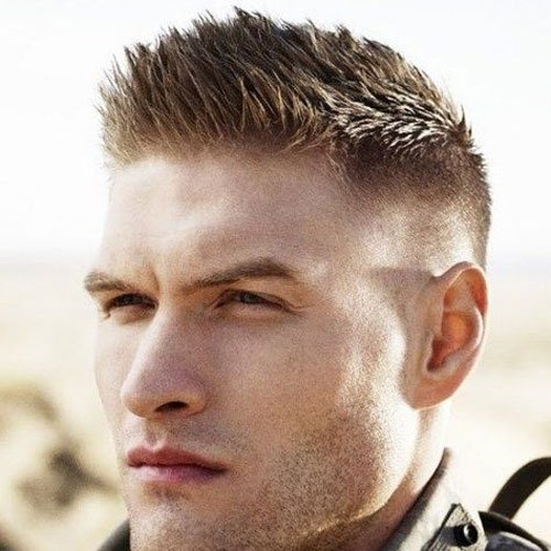 Nice Military Haircut   Brush Cut With Fade