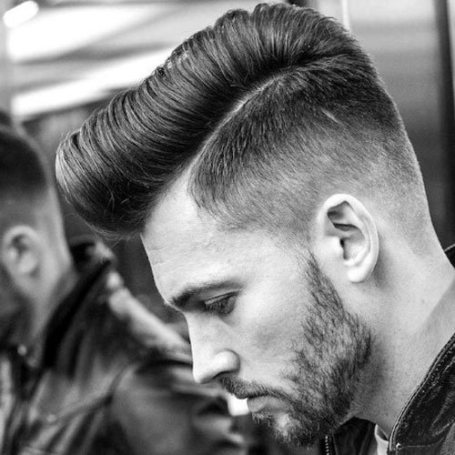 Side Part Pompadour