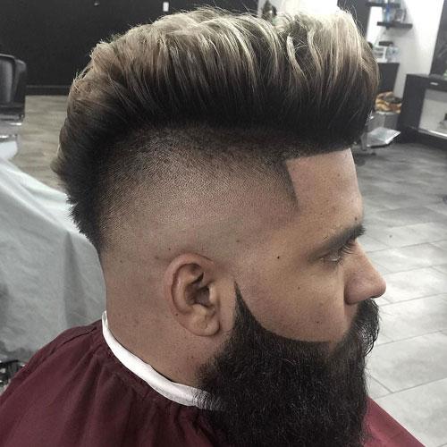 Modern Pompadour With Beard