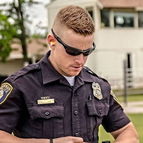 Police Officer Haircut - Short Crew Cut + High Bald Fade