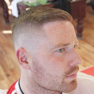 Short Crew Cut + Bald Fade + Line Up