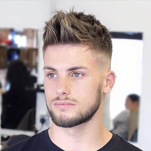Spiky Modern Quiff + High Bald Fade