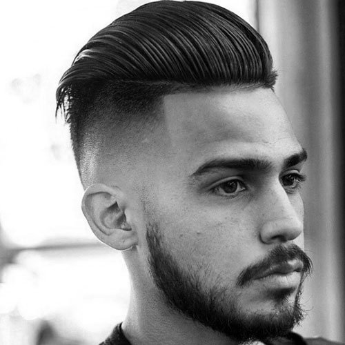 Undercut Fade + Thick Slick Back Pomp