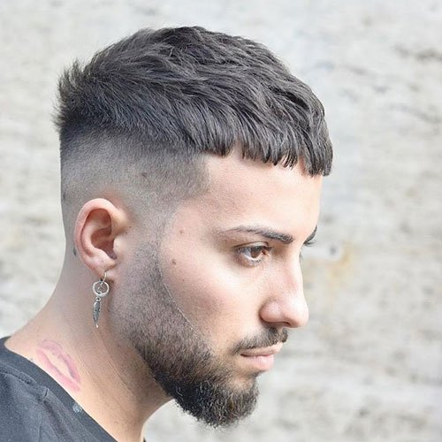 Crop + Undercut + Beard Fade