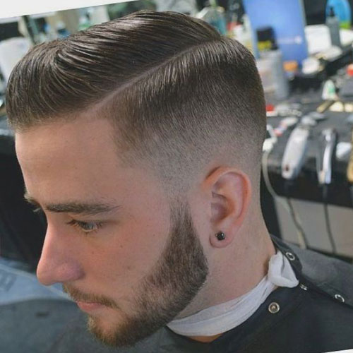 Guys Haircuts - Low Fade with Side Part