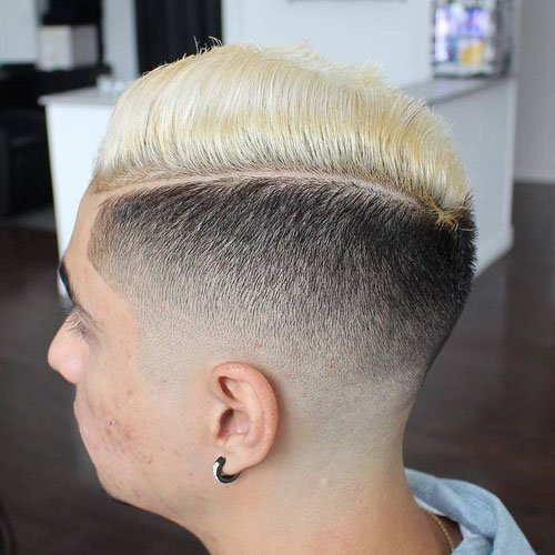 Hard Part Comb Over + Low Fade