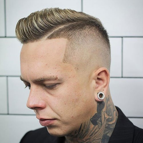 Hard Side Part + High Razor Fade