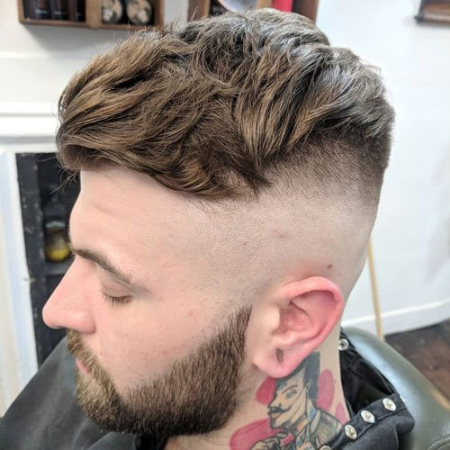 High Skin Fade + Thick Textured Comb Over