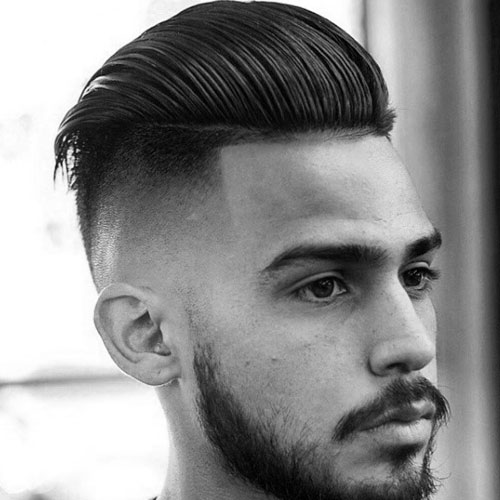 High Skin Fade with Long Slicked Back Hair