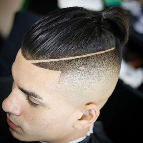 Man Bun + Shaved Sides