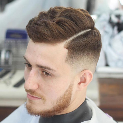 Men's Parted Haircut