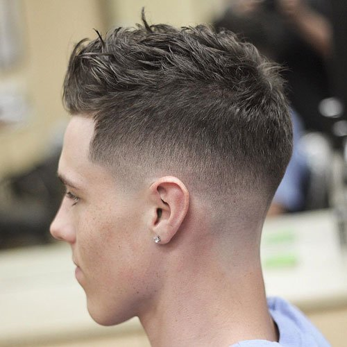 Short Textured Urban Hairstyle Men Thick Hair
