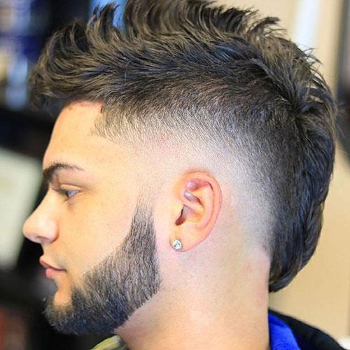 Mohawk Fade + Beard