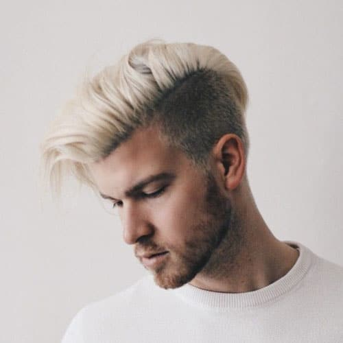 Platinum Blonde Comb Over Undercut
