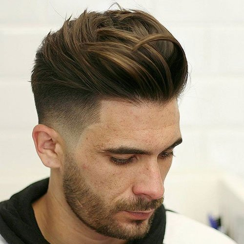Quiff Undercut + Shape Up + Beard
