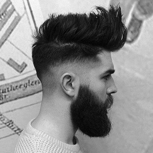 Shaved Hairstyles With Beard