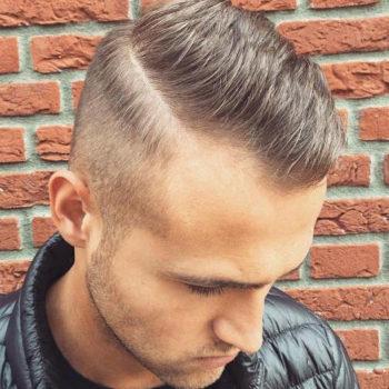 Short Spiky Hair + Hard Part For Receding Hairlines