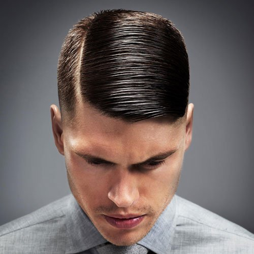 mens short hairstyles side part