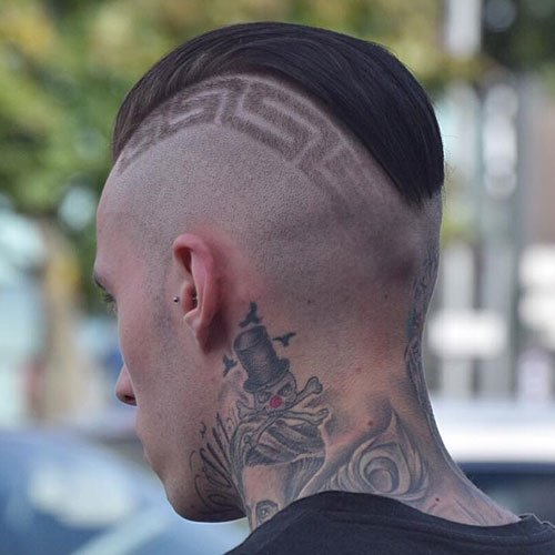 Slick Back + Shaved Sides + Design