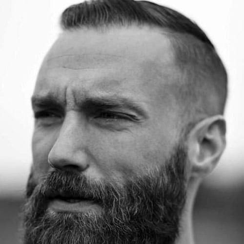 Thin Hair Comb Over + Fade + Full Beard