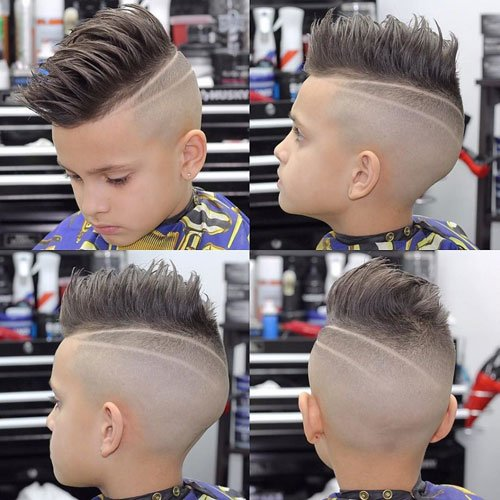 Faux Hawk + Shaved Sides + Design