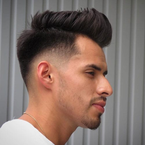 High Taper Fade + Textured Quiff