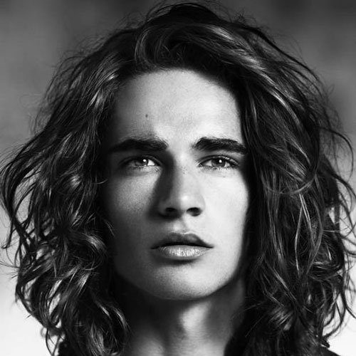 Guys Long Hairstyles mens long curly and wavy hairstyle Long Hairstyles For Men