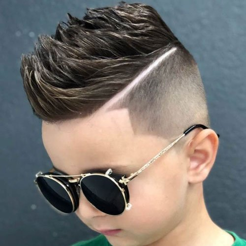 Short Spiky Hair Fade + Hard Part