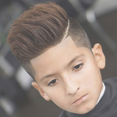 Thick Brushed Up Hair + High Taper Fade + Shape Up