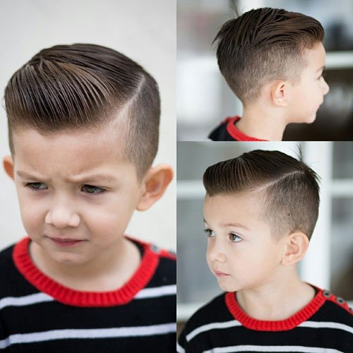 Toddler Boy Haircuts - Hard Side Part + Tapered Sides