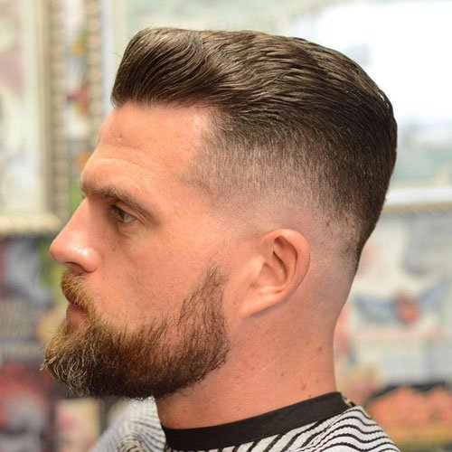 Bald Fade with Textured Slick Back