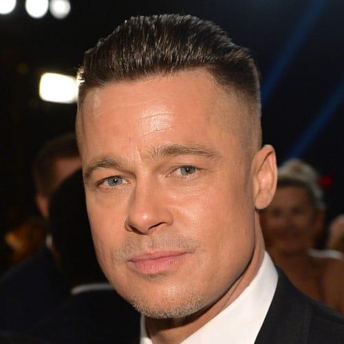 Brad Pitt Fury Hair