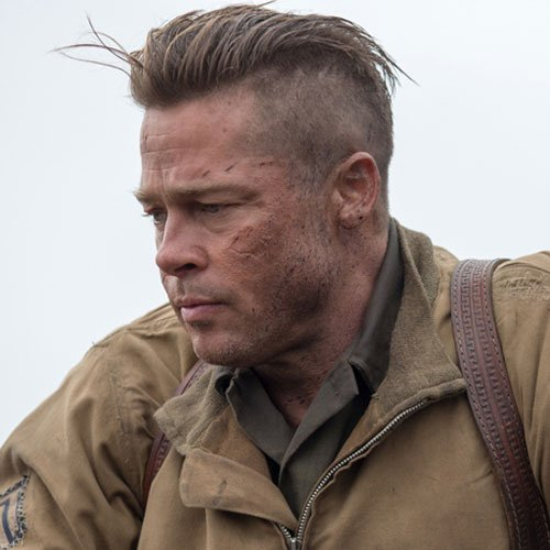 Brad Pitt Fury Haircut - Undercut