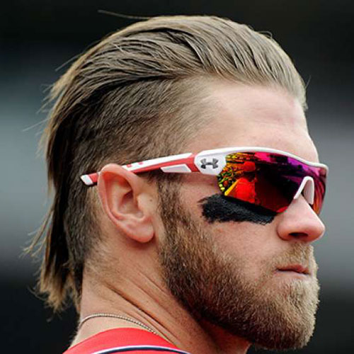 Hairstyles 2017 Games : Bryce Harper Hairstyles - Mens Hairstyles and Haircuts 2017