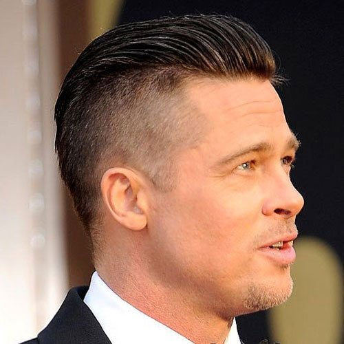 Celebrity Hairstyles - Brad Pitt - Celebrity Hairstyles For Men Men's Hairstyles + Haircuts 2017