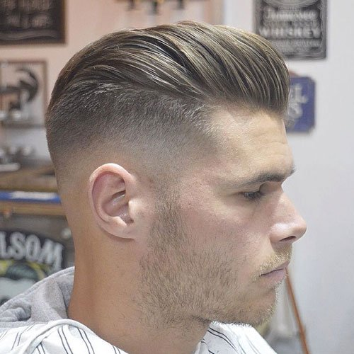 High Bald Fade with Long Pomp