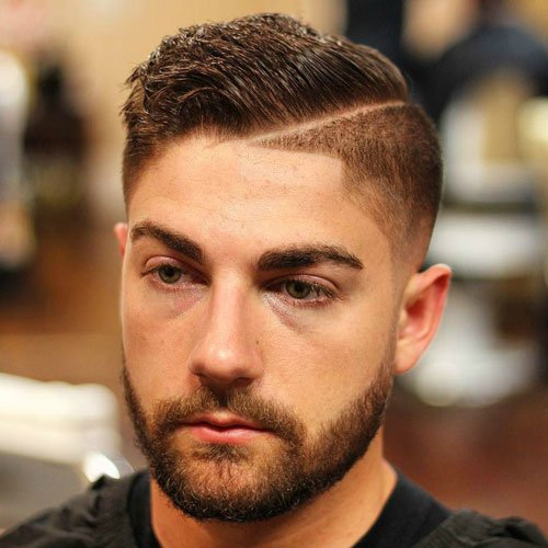 Good Haircuts - High Fade with Hard Part and Comb Over