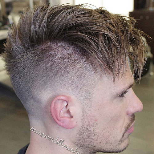 High Fade with Messy Fringe