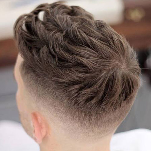 High Fade with Thick Textured Spikes