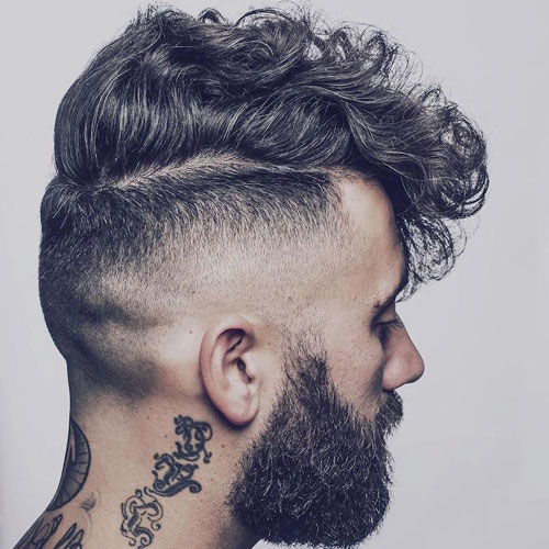 High Skin Fade with Wavy Hair