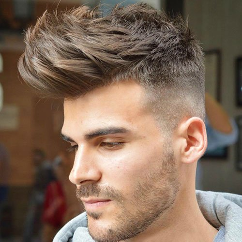 Nice Haircuts For Men High Skin Taper Fade With Quiff