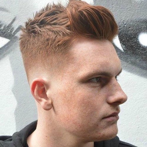 Low Skin Taper Fade with Brush Up