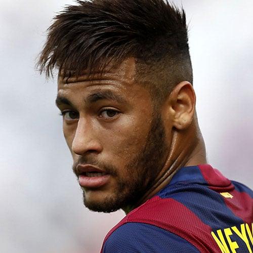 Neymar Jr Haircut - Fade with Angular Fringe