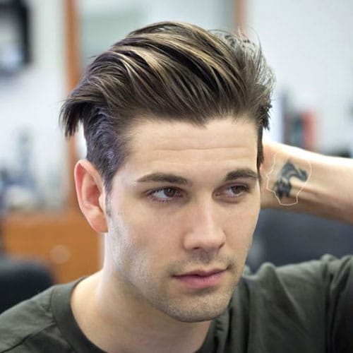 Short Sides and Long Textured Hair on Top