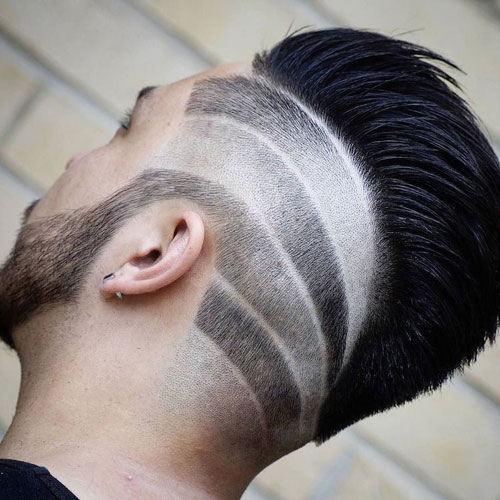 Tapered Fade with Mohawk Pomp
